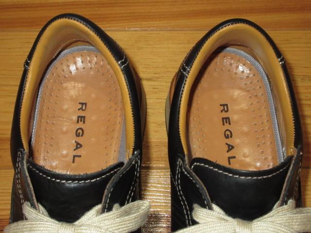 ★ REGAL リーガル ★ レザースニーカー・ブラック ★ (24.5cm)25.0cm 相当 / 中古美品 ★_画像7