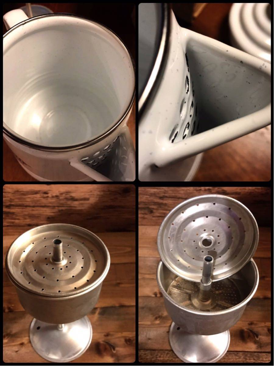 レア 美品 USAビンテージコールマンポットパーコレーター&マグカップ4個セットコールマン旧ロゴが素敵です!サンシャイン USA限定 箱付属_画像6