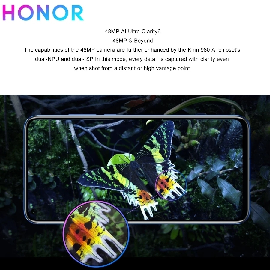 ★huawei Honor V20★8GB+128GB★48MPカメラ★6.4インチ★日本語対応★simフリー★Kirin 980★ブルー★_画像5