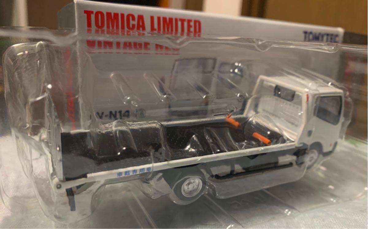 トミカ リミテッド ヴィンテージ ネオ ニッサン アトラス F24 花見台自動車 セフテーローダ 積載車 ホワイト LV-N144 a 1/64