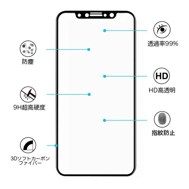 【月曜日まで】iPhone XS用★超高硬度9H 3D 液晶保護 強化ガラスフィルム(液晶保護フィルム) 極薄0.33mm 曲面対応 最強強度 徹底防御_画像2