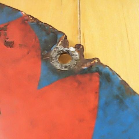 【一番ヨクキクかとりせんこう 金鳥香】ホーロー(琺瑯)看板 両面円形 昭和レトロ_画像6