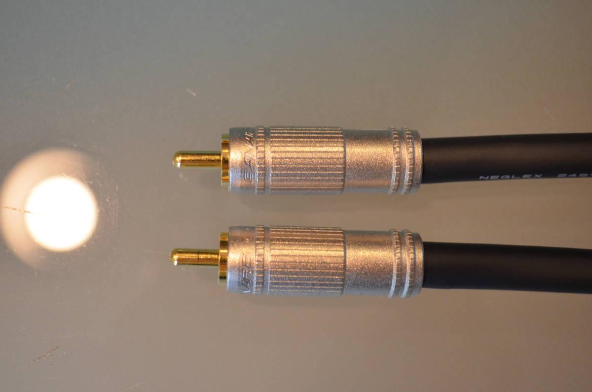 送料無料 テスト使用のみ RCAケーブル 50cm ×2本 セット ケーブル:MOGAMI モガミ 2497 プラグ:CANARE カナレ F-09_画像8