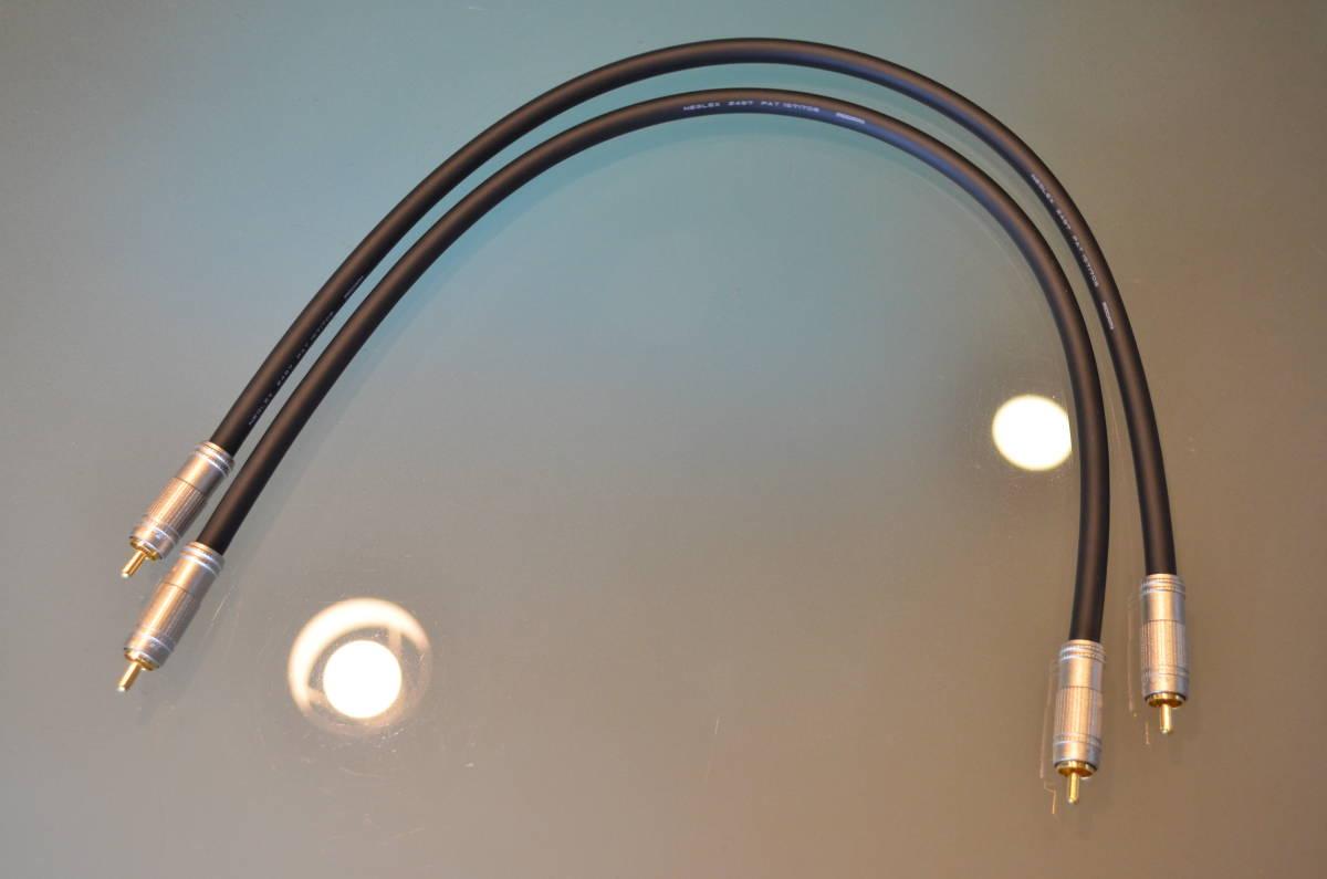 送料無料 テスト使用のみ RCAケーブル 50cm ×2本 セット ケーブル:MOGAMI モガミ 2497 プラグ:CANARE カナレ F-09_画像4