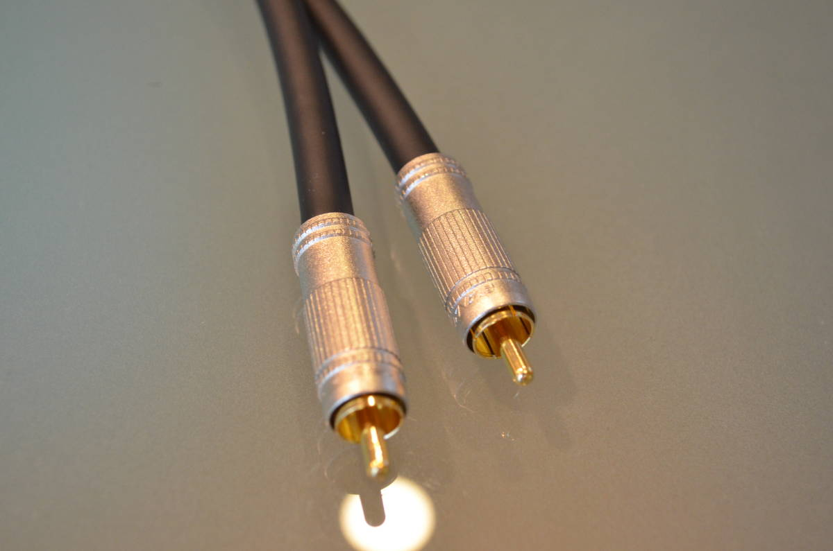 送料無料 テスト使用のみ RCAケーブル 50cm ×2本 セット ケーブル:MOGAMI モガミ 2497 プラグ:CANARE カナレ F-09_画像6
