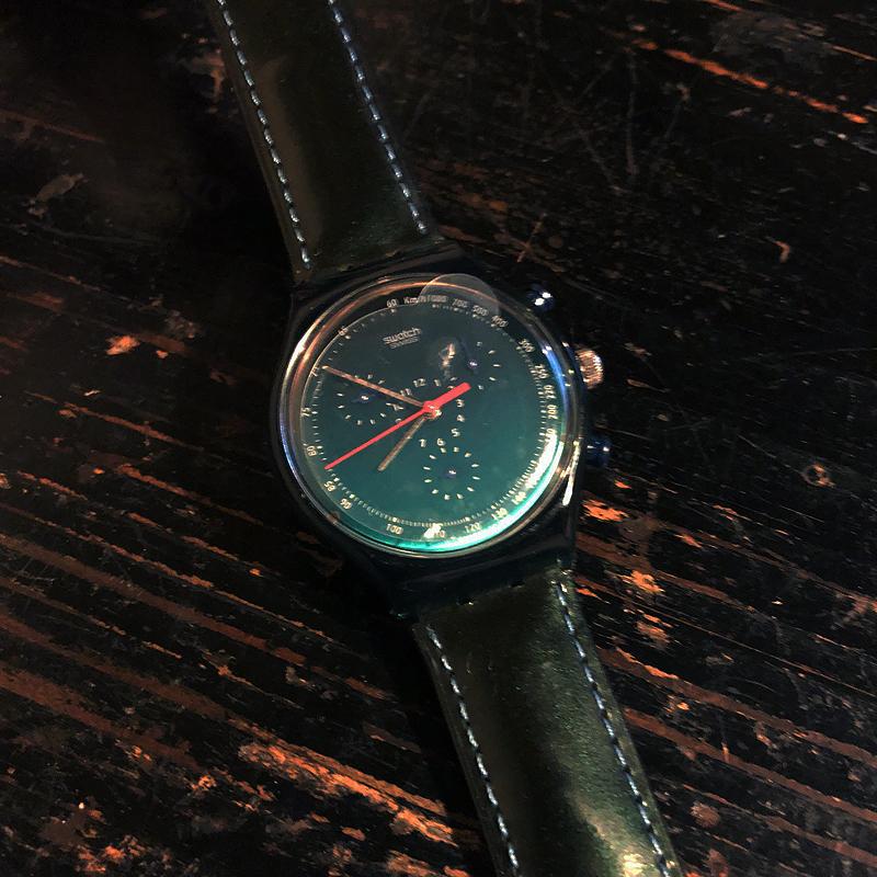 新品・未使用・腕時計・swatch・CHRONO・スウォッチ・クロノ・電池交換済み・デッドストック・1996・ケース付き