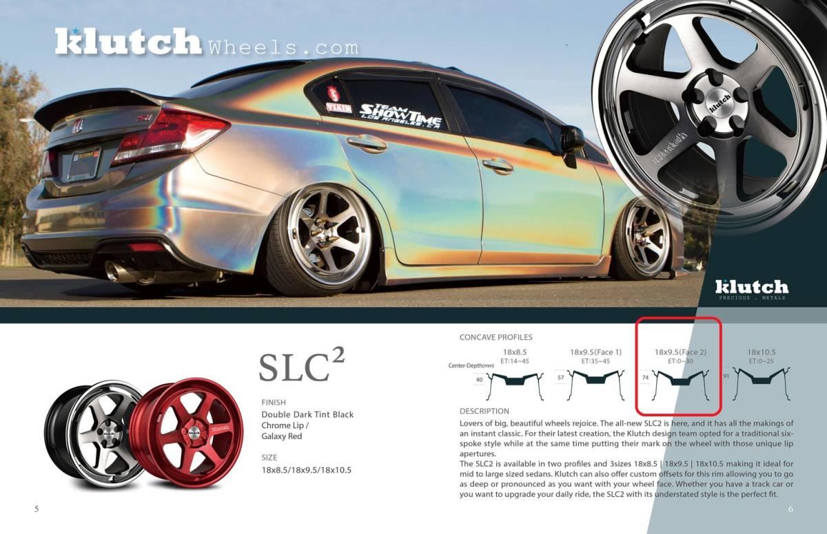 Klutch SLC2 18x9.5J+42 5x114.3 USDM 新品_画像3
