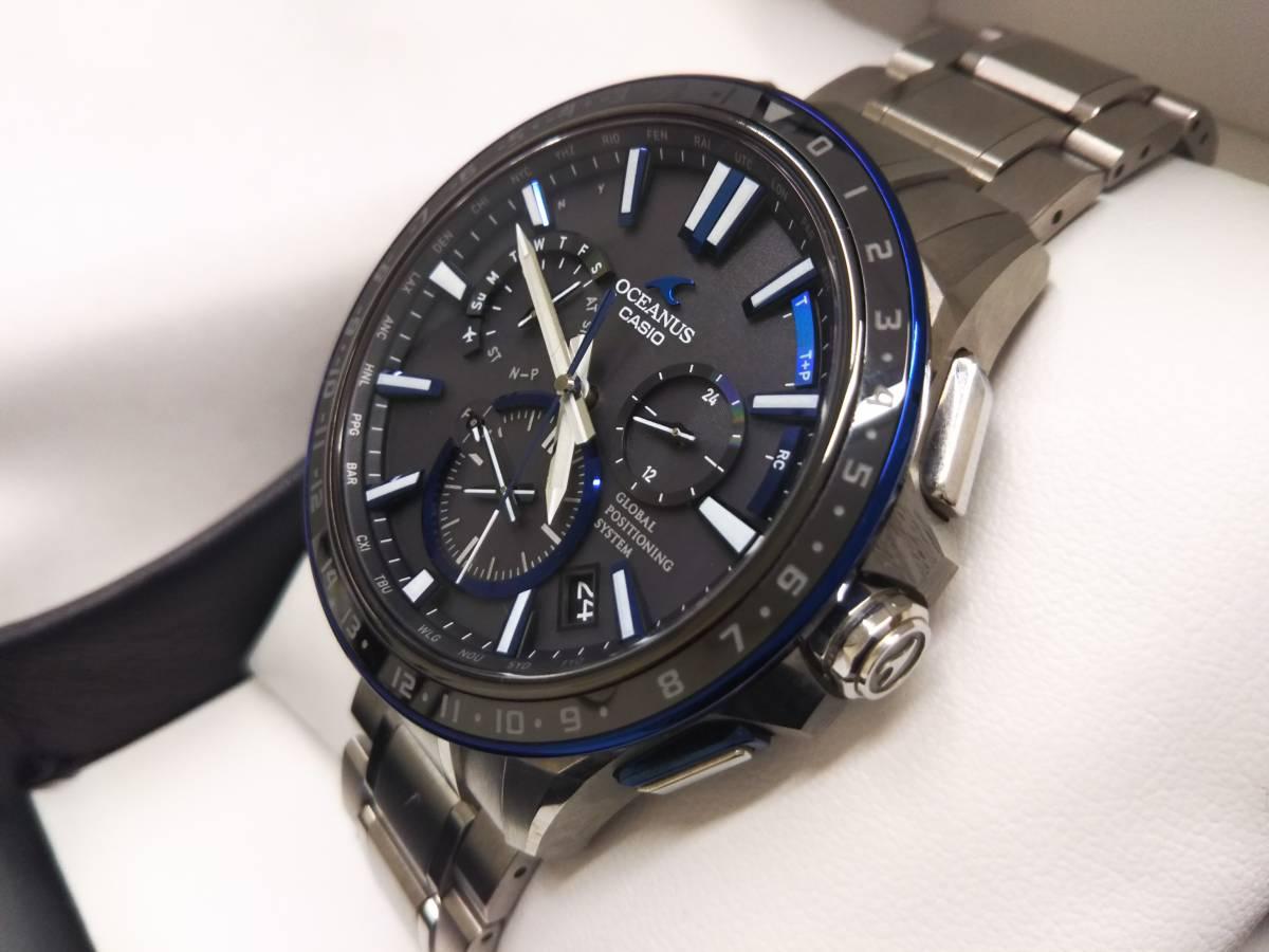 CASIO カシオ オシアナス OCW-G1200 GPSハイブリッド電波ソーラー 箱説明書付き メンズ腕時計 チタン OCEANUS_画像2