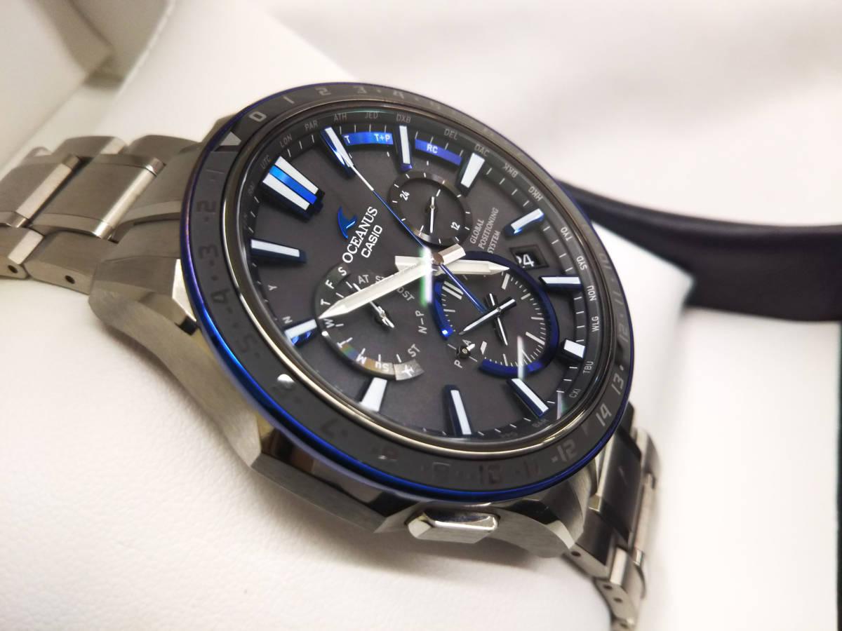 CASIO カシオ オシアナス OCW-G1200 GPSハイブリッド電波ソーラー 箱説明書付き メンズ腕時計 チタン OCEANUS_画像3