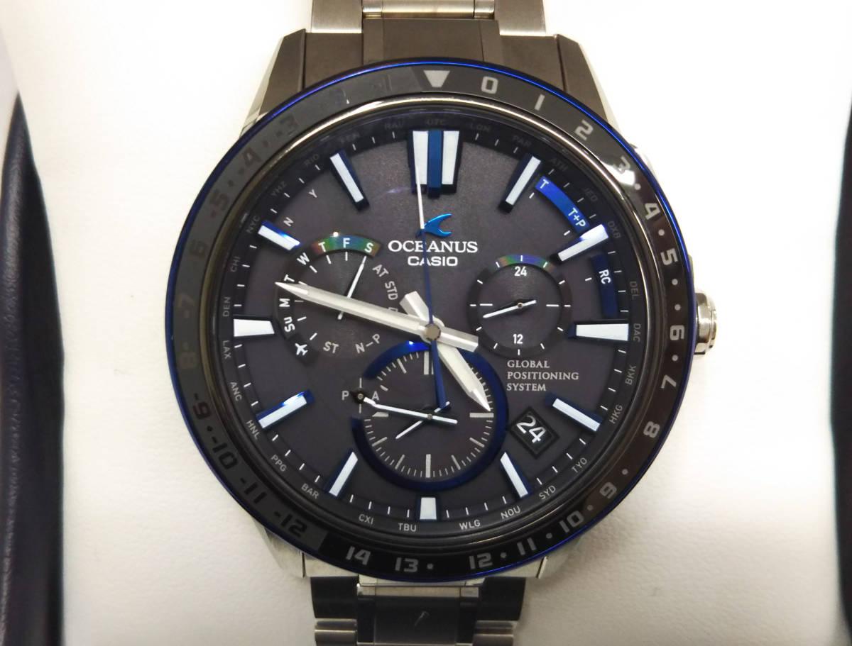 CASIO カシオ オシアナス OCW-G1200 GPSハイブリッド電波ソーラー 箱説明書付き メンズ腕時計 チタン OCEANUS_画像1