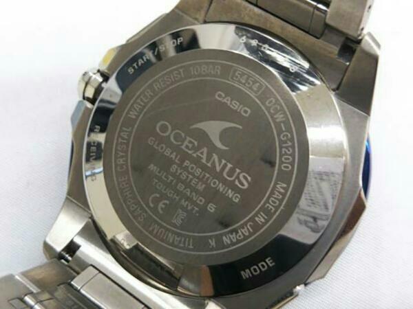 CASIO カシオ オシアナス OCW-G1200 GPSハイブリッド電波ソーラー 箱説明書付き メンズ腕時計 チタン OCEANUS_画像5