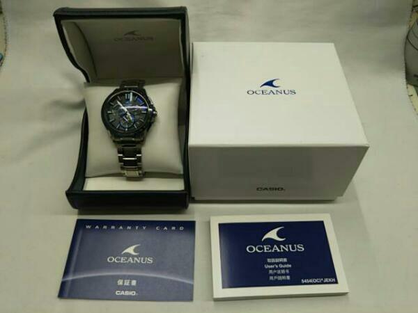 CASIO カシオ オシアナス OCW-G1200 GPSハイブリッド電波ソーラー 箱説明書付き メンズ腕時計 チタン OCEANUS_画像8