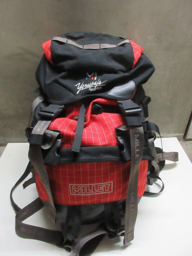 美品 MILLET yerupaja 50/55 ミレー バックパック 登山 リュック 赤 黒 大容量