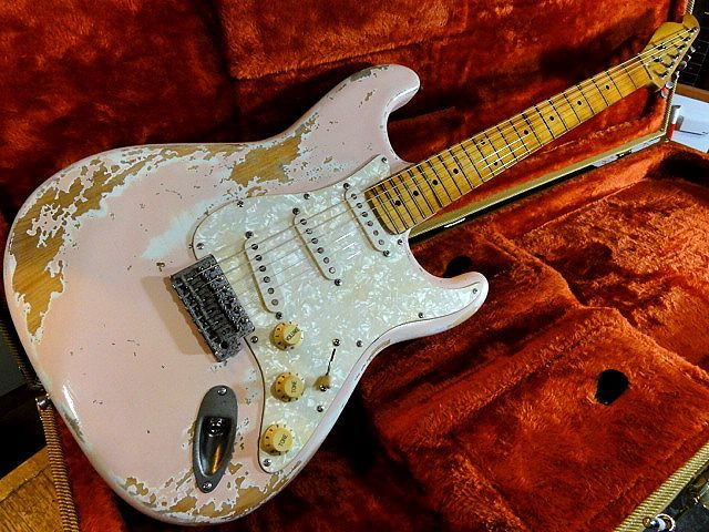 ☆OnlyOne original Customized Relic Stratocaster Telecaster Neck Stratocaster ShellPink レリック ☆