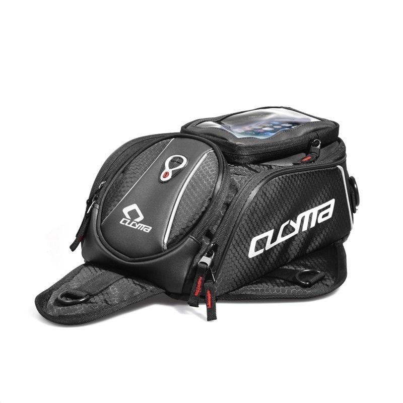 オートバイ黒タンクバッグ多機能モト荷物汎用石油燃料タンクバッグシートテールパック本 CUCYMA