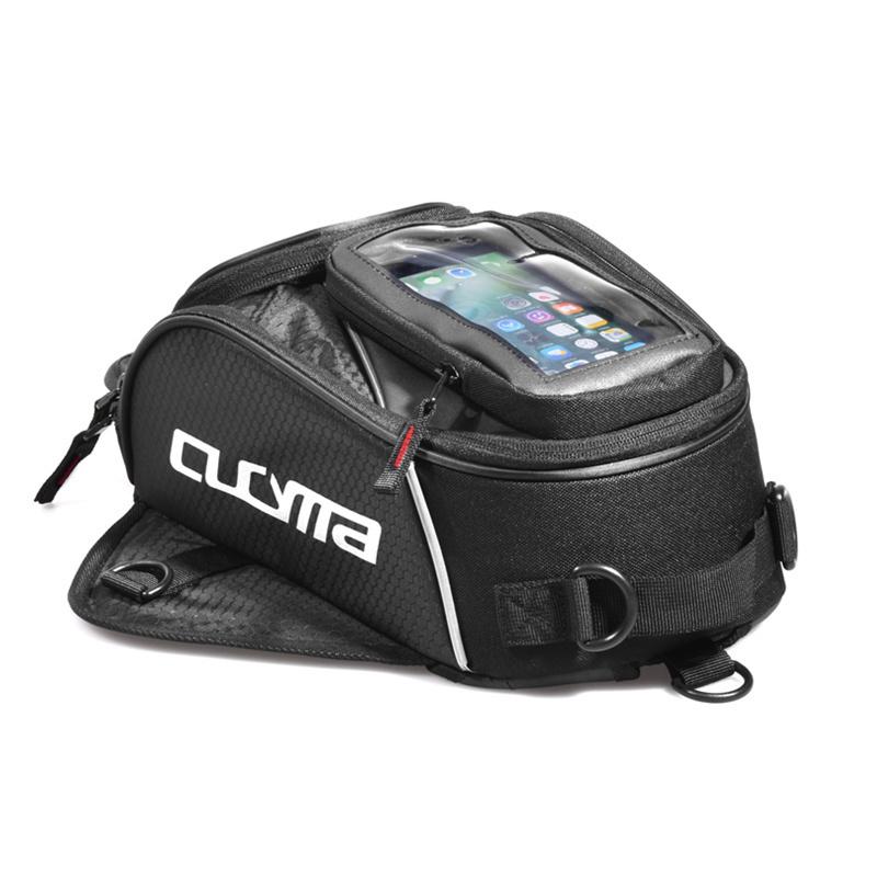 オートバイ黒タンクバッグ多機能モト荷物汎用石油燃料タンクバッグシートテールパック本 CUCYMA_画像5