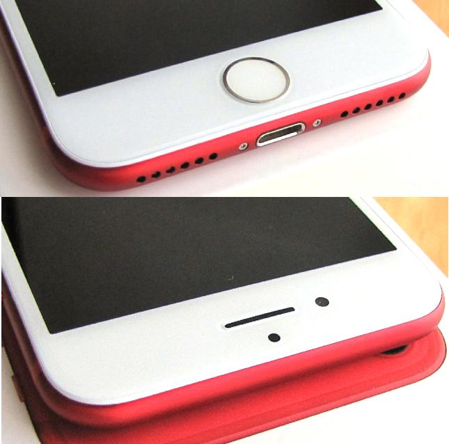 傷なし 新品同様 SIMフリー 化済 Apple iPhone7 128GB レッド docomo版 SIMロック解除済 純正バッテリ99% 格安SIM iphone 7 スピード発送_画像5