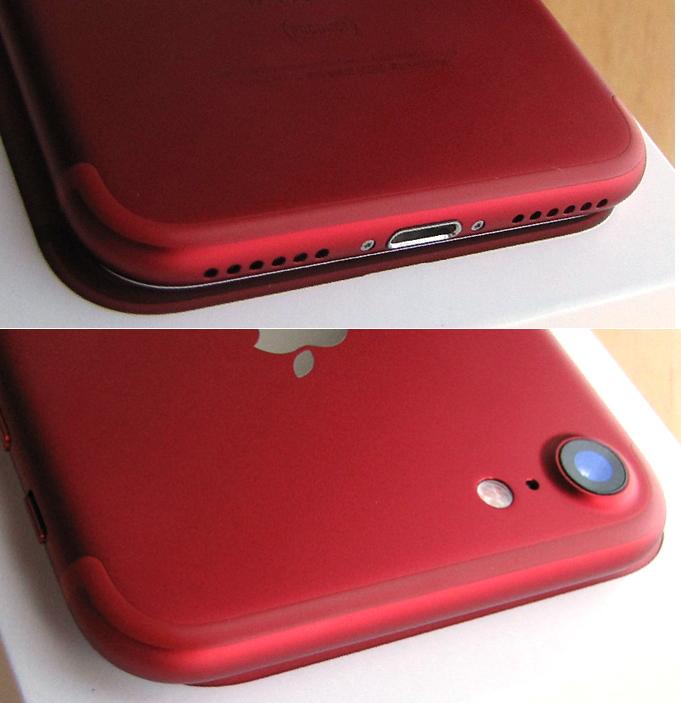 傷なし 新品同様 SIMフリー 化済 Apple iPhone7 128GB レッド docomo版 SIMロック解除済 純正バッテリ99% 格安SIM iphone 7 スピード発送_画像6