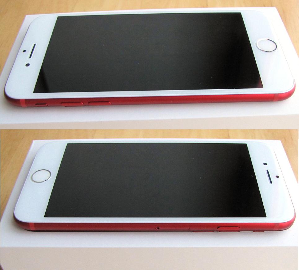 傷なし 新品同様 SIMフリー 化済 Apple iPhone7 128GB レッド docomo版 SIMロック解除済 純正バッテリ99% 格安SIM iphone 7 スピード発送_画像7