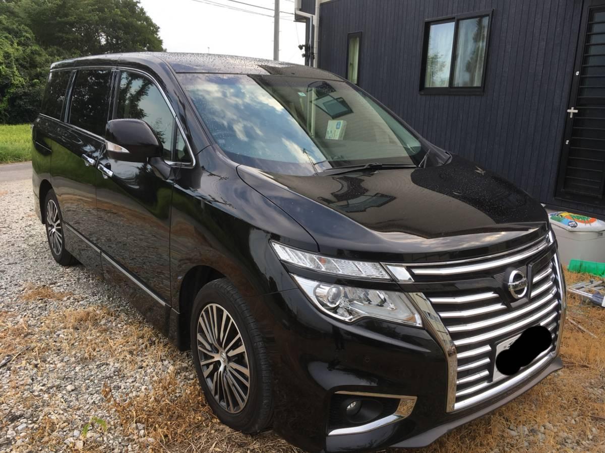 1 jpy Miyagi departure Nissan Elgrand 250 highway star S 7 person black Heisei era 29 year vehicle inspection