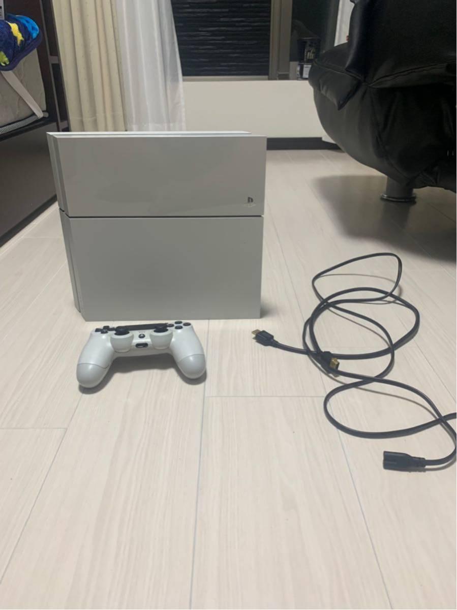 1円スタート!PS4本体 ホワイト 1100