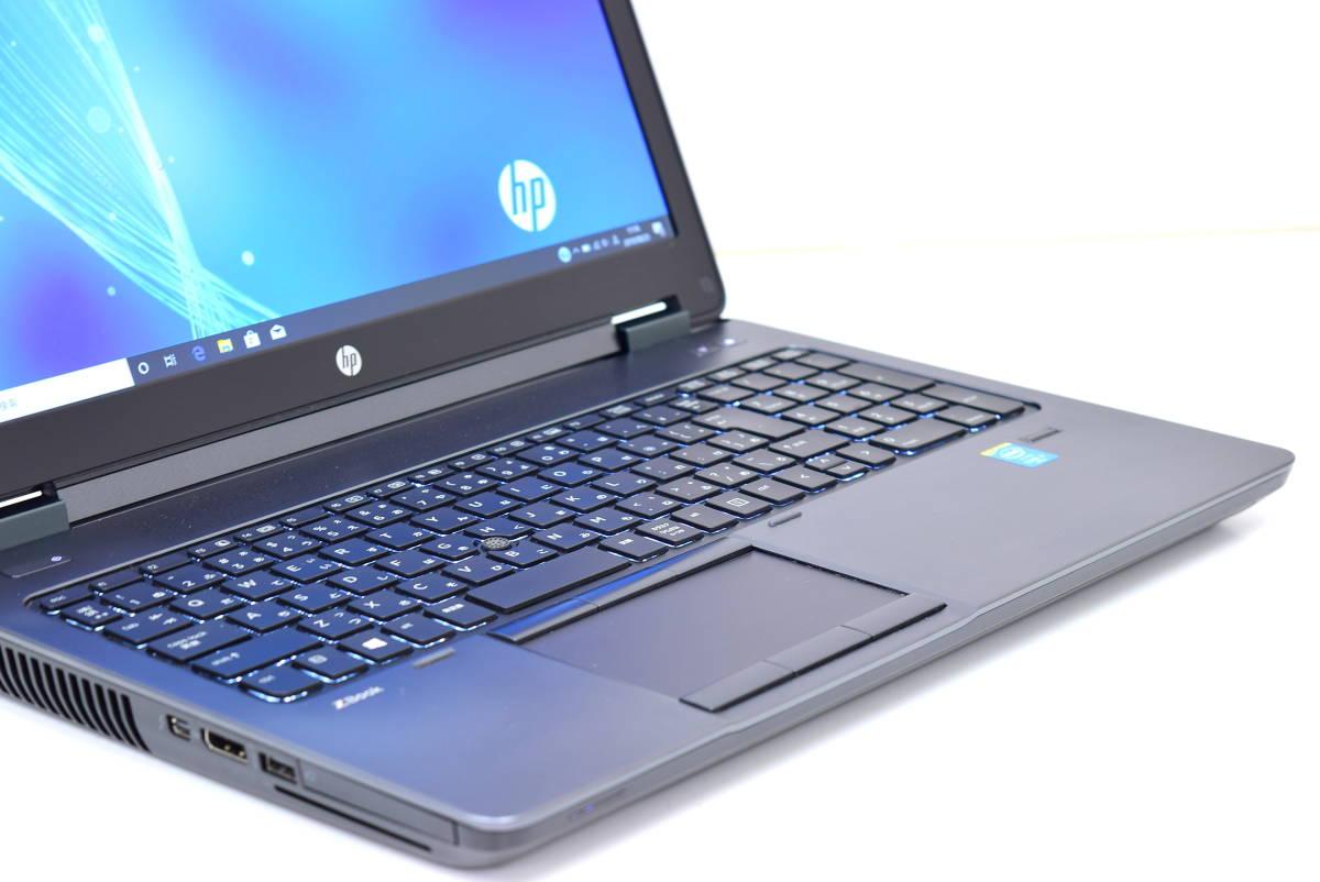 【即配】モンスターPC!15.6型1920x1080FHD!ZBook 15 i7-4810MQ メモリ16GB SSD256GB K2100M-2G Office Win10_画像2