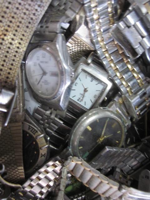 ★ジャンク クオーツ メンズ レディース 腕時計 約6.4キロ分 まとめ売り 国産&スイス製_画像9