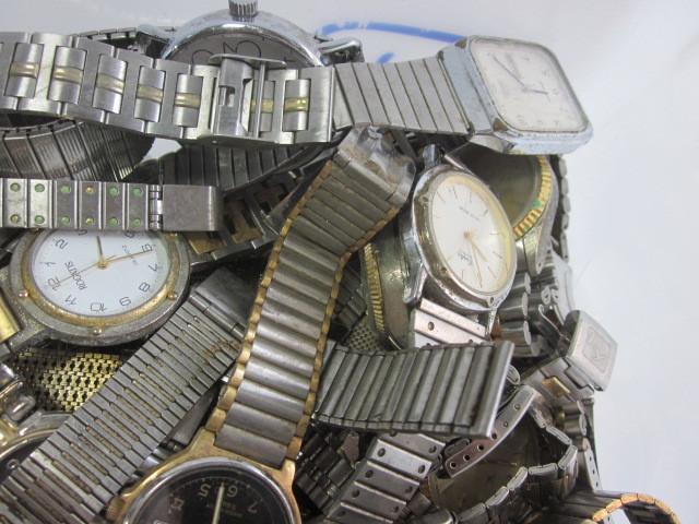 ★ジャンク クオーツ メンズ レディース 腕時計 約6.4キロ分 まとめ売り 国産&スイス製_画像3