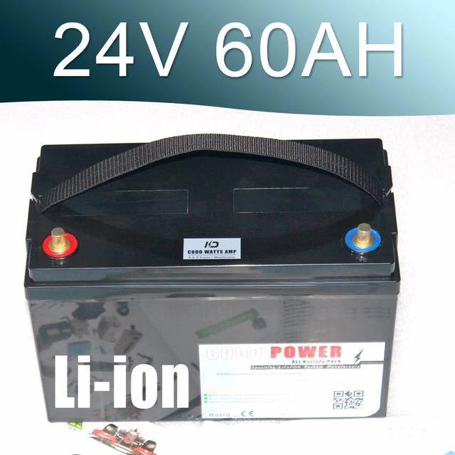 24V60Ahリチウムイオンバッテリー エレクトリックモーター電源