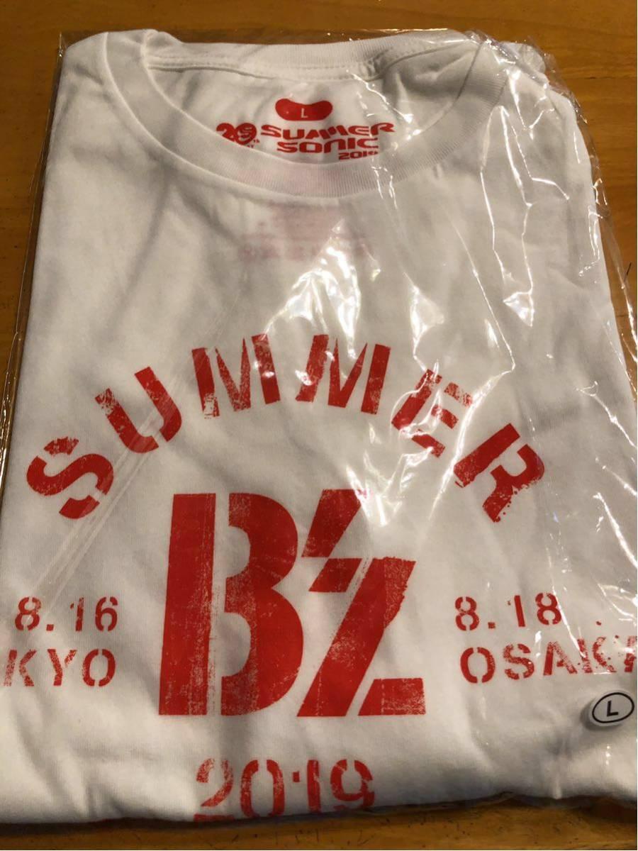 B'z SUMMER SONIC 2019 サマソニ 限定Tシャツ L 白 グッズ 新品 Whole Lotta NEW LOVEツアーにも!