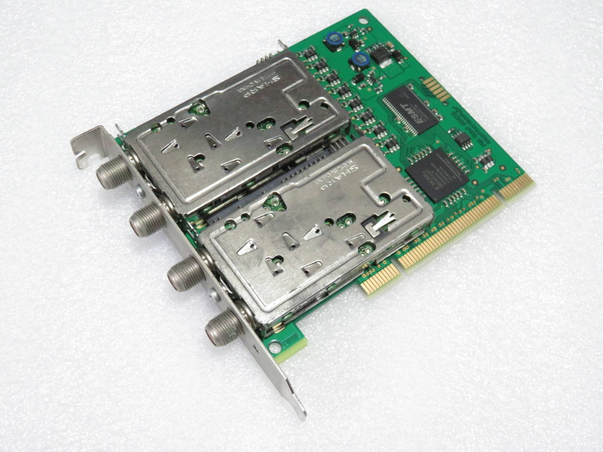 【動作品】 アースソフト PT2 Rev.B ★ 3波対応 チューナーカード PCI ②