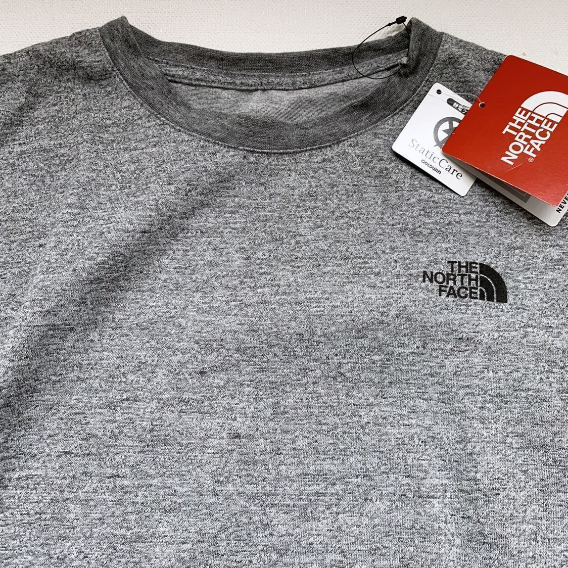 新品正規 ノースフェイス スクエア ロゴ Tシャツ L ミックス グレー THE NORTH FACE S/S Square Logo Tee メンズ NT31957 2019ss_画像4