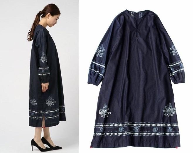 45R(45rpm)インディゴ染 タペットコーティングのドレス0/ワンピ・イレギュラー品