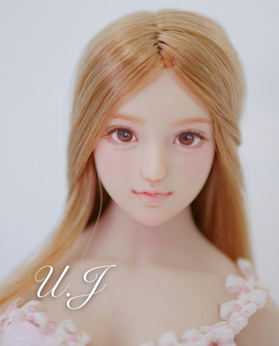 ☆U.J ☆ 1/6ドール カスタムヘッド 「 菜-ひな 」ドールヘッドカスタムドール _画像2