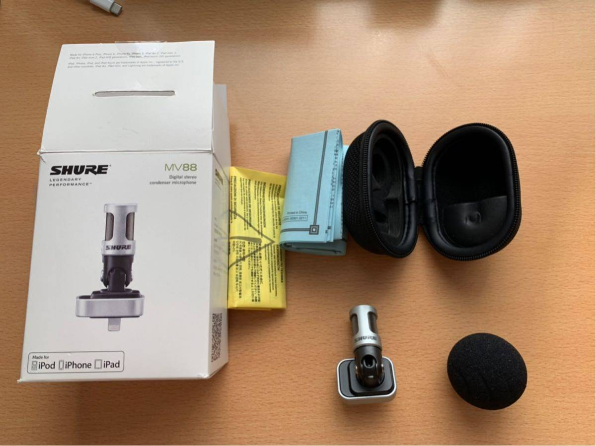 SHURE コンデンサーマイク MOTIVシリーズ MV88A iPhone iPad用 24bit/48kHz MV88A-A 【国内正規品】