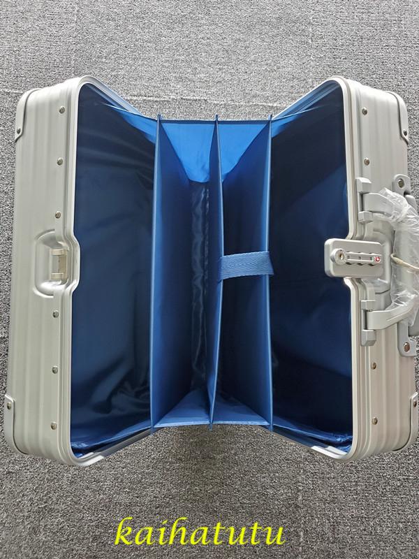 最高品質!※EU基準※アルミニウム合金100%・軽量/静音・TSAロック搭載スーツケース・キャリーケース※機内持ち込可 /18インチ_画像6