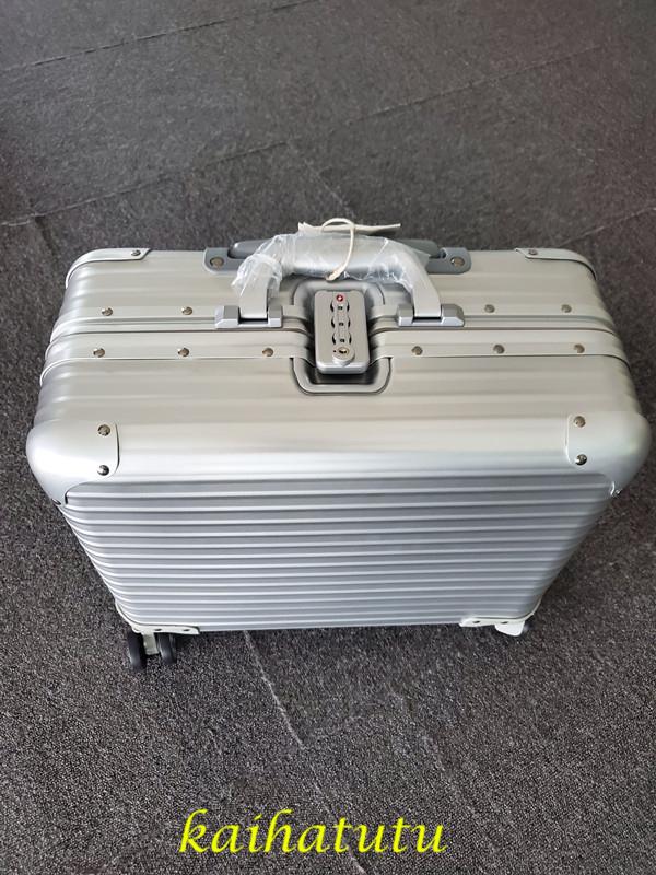 最高品質!※EU基準※アルミニウム合金100%・軽量/静音・TSAロック搭載スーツケース・キャリーケース※機内持ち込可 /18インチ_画像4