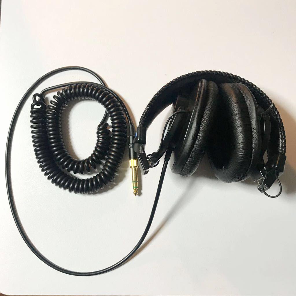 完動美品 送料無料 純正ソフトケース付 SONY MDR-7506 モニターヘッドホン ソニー 密閉型 折りたたみ式 カールコード 金メッキ 2wayプラグ_画像6