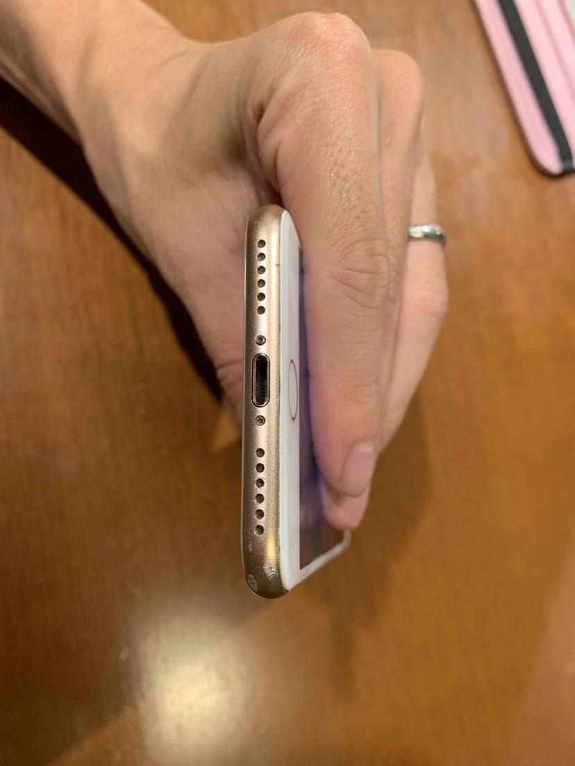 Apple iPhone8 256GB ゴールド MQ862J/A バッテリ83% ドコモ アップル SIMロック解除済み_画像6