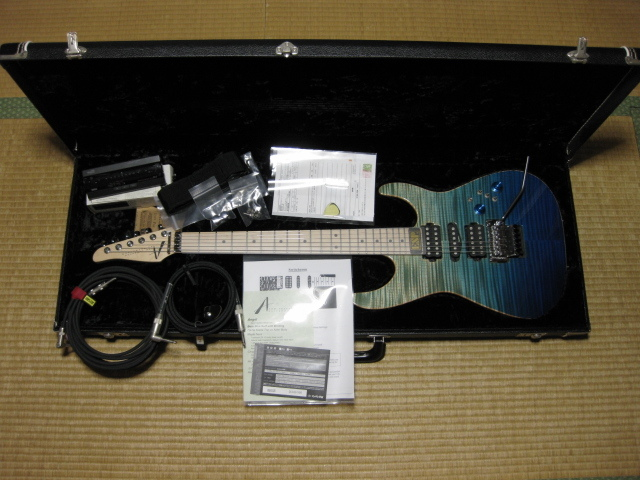 Tom Anderson Angel Bora Blue Surf with Binding Flame Maple