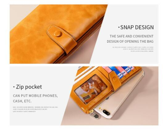 19A057長財布 財布 レディース 本革 レザー 実物写真 人気 素敵 気質よい 通勤 出張 旅行 高級感 _画像7