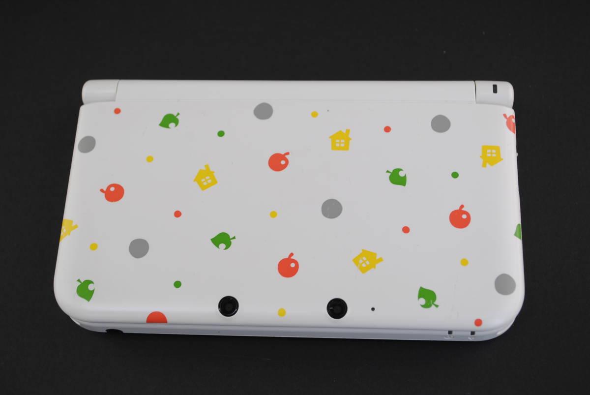 (4721)【3DS】3DSLL本体のみ とびだせどうぶつの森パック (※ダウンロード版ソフト欠品 /箱なし・本体のみ) 中古品