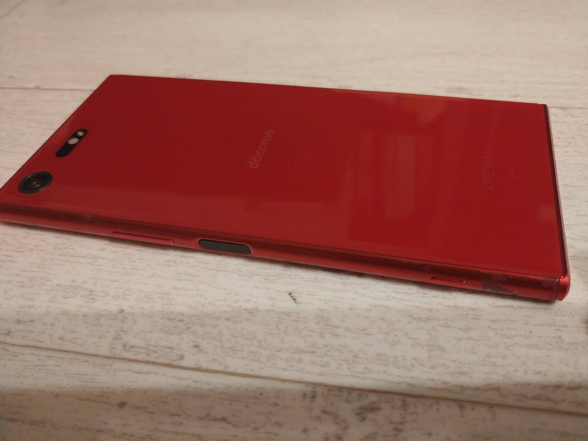 docomo SIMフリー解除 Xperia XZ Premium SO-04J レッドNW利用制限〇 ケース付き_画像3
