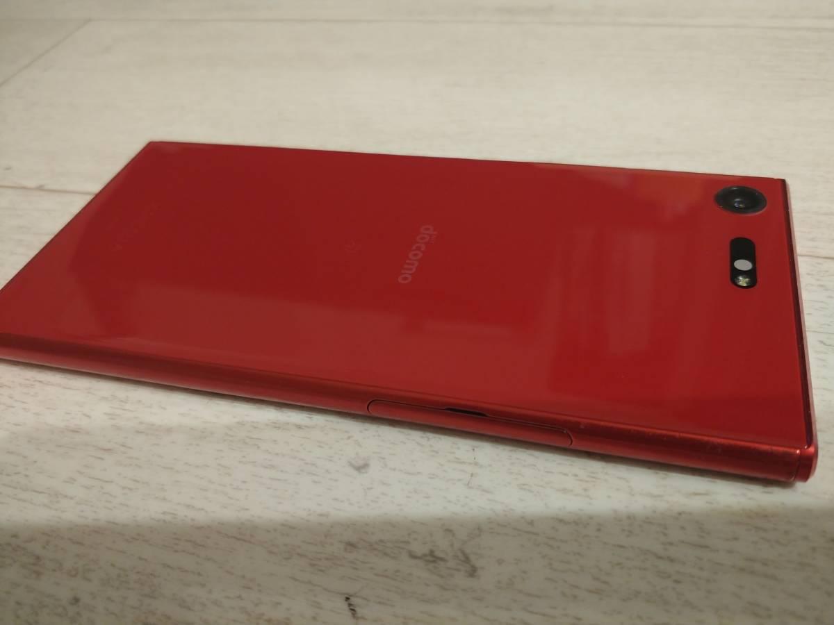 docomo SIMフリー解除 Xperia XZ Premium SO-04J レッドNW利用制限〇 ケース付き_画像4
