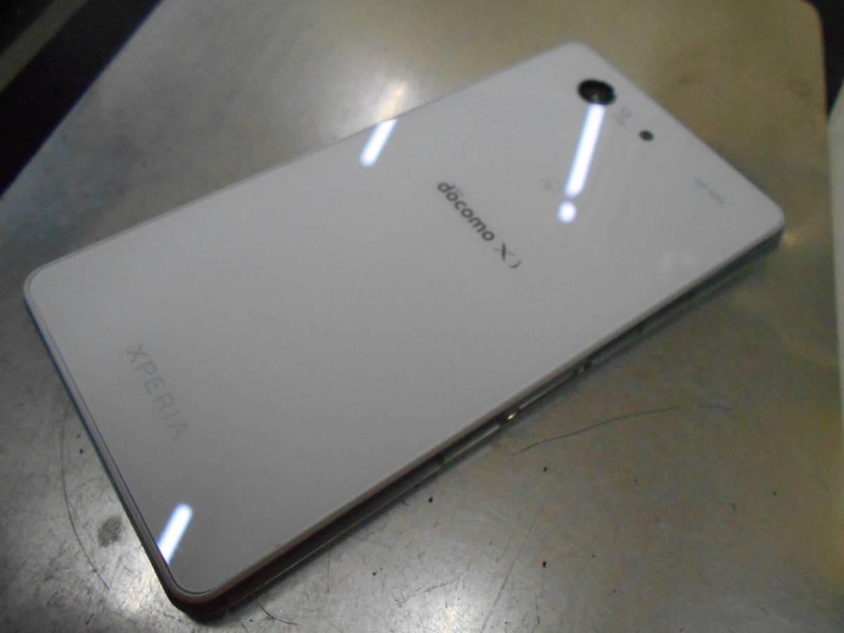 ジャンク品 docomo ドコモ sony ソニー SO-02G Xperia Z3 Compact 白 ホワイト 弐 判定◯ 一部ガラス割れ 一部タッチ不良_画像3