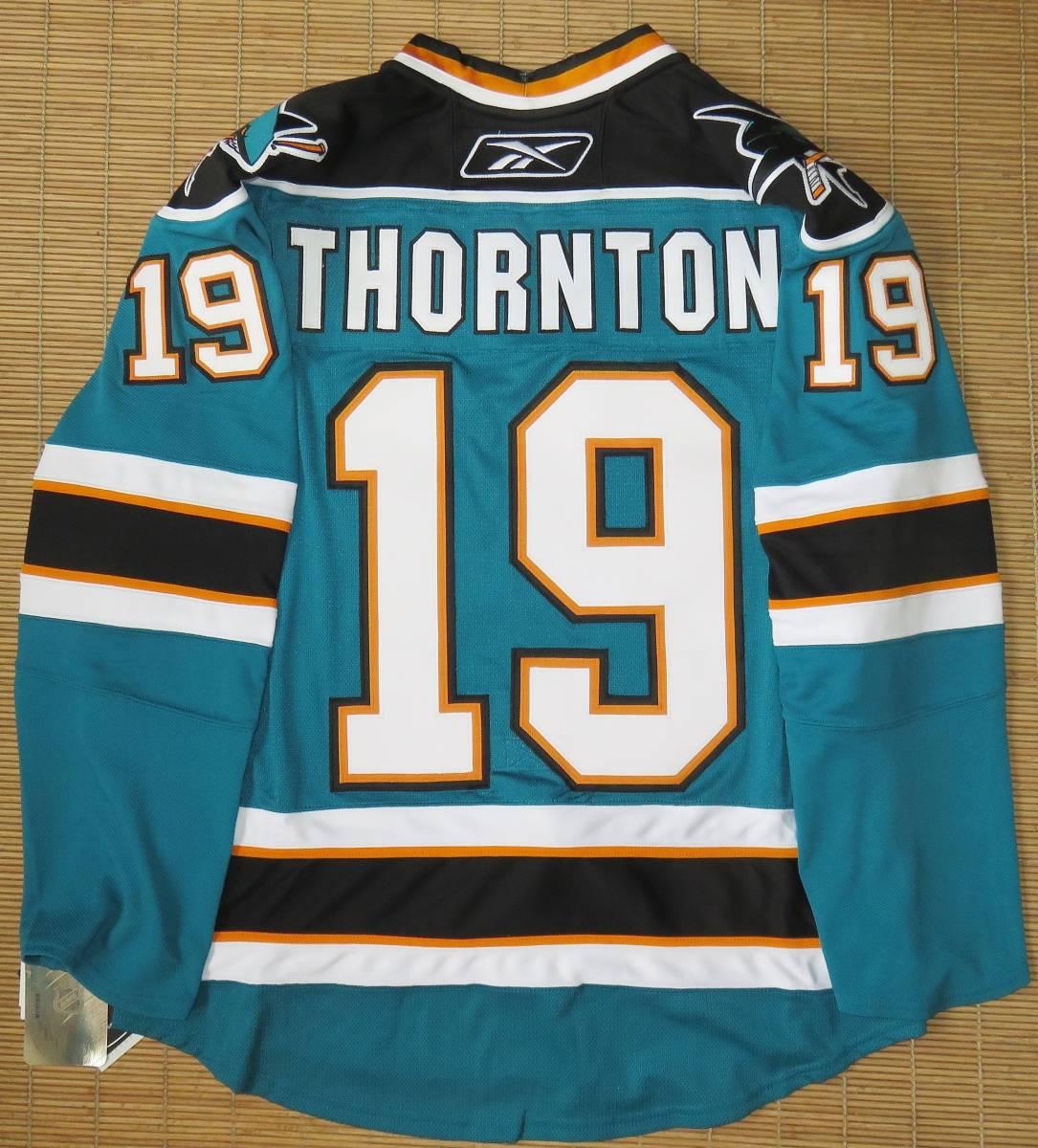 正規品 NHL サンノゼ・シャークス#19ジョー・ソーントン(カナダ代表/ブルーインズ)ホーム用/オーセンティック ジャージ/ユニフォーム_画像2