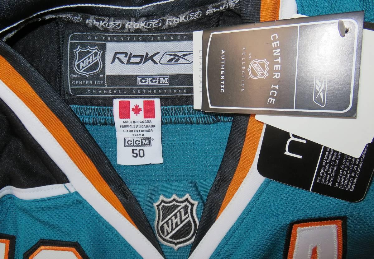 正規品 NHL サンノゼ・シャークス#19ジョー・ソーントン(カナダ代表/ブルーインズ)ホーム用/オーセンティック ジャージ/ユニフォーム_画像6