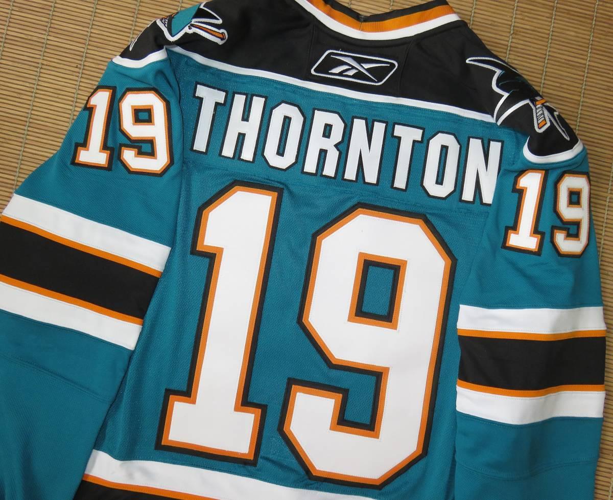 正規品 NHL サンノゼ・シャークス#19ジョー・ソーントン(カナダ代表/ブルーインズ)ホーム用/オーセンティック ジャージ/ユニフォーム_画像4