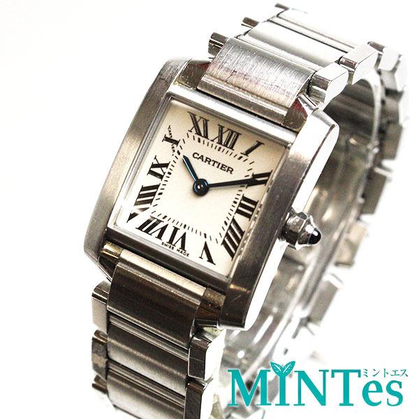 Cartier カルティエ タンクフランセーズ SM レディース腕時計 W51008Q3 2384 白文字盤 シルバー SS 定番 人気_画像1