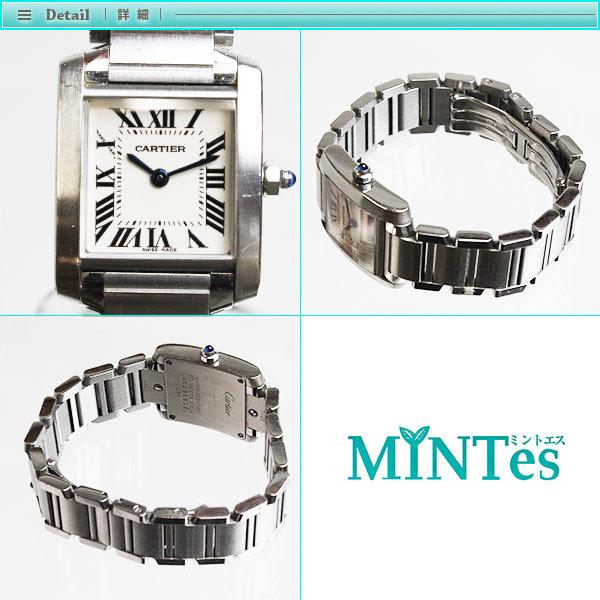 Cartier カルティエ タンクフランセーズ SM レディース腕時計 W51008Q3 2384 白文字盤 シルバー SS 定番 人気_画像2
